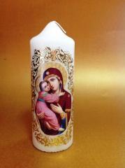 Ръчно изработена свещ с икона