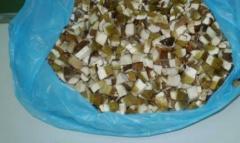 White frozen mushrooms