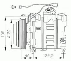Компресор за AUDI A4, A6, A8 И VOLKSWAGEN PASSAT