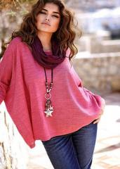 Пуловер с широки ръкави