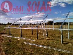 Набивна конструкция за соларни, фотоволтаични
