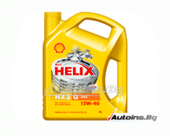 Масло Shell HELIX LP GAS HX5 15W40 - 4 литра