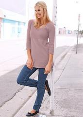 Дълъг дамски пуловер