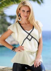 Елегантна блуза от шифон с колан