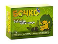 Защитен бебешки крем-сапун БОЧКО – 75 г