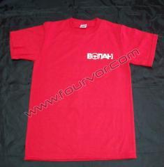 Тениска с рекламен надпис