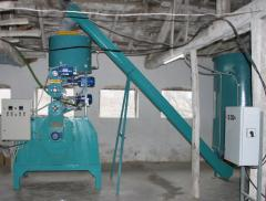 Equipment for the production of pellets