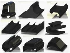 Profiled rubber products