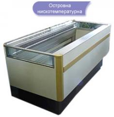 Нискотемпературна островна хладилна витрина
