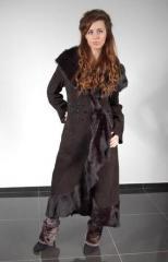 Палто кожено дамско