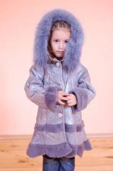 Палто кожено детско
