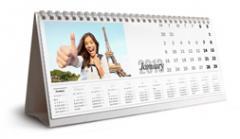 Хоризонтален настолен календар (12 cm x 30 cm