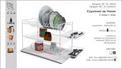 Сушилник за чинии на 3 нива с метален кош
