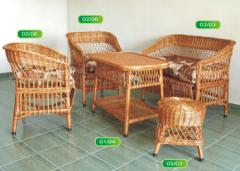 Плетена градинска мебел