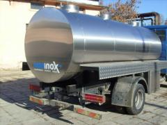 Tankers for dairy industry
