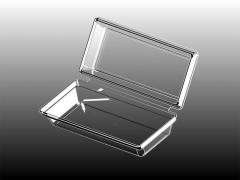 Кутия с капак 1/3; цвят - прозрачен;