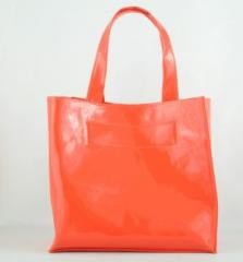Дамска чанта 932 оранжев лак