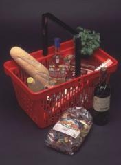 Baskets for supermarkets