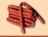 Сурово-пушен колбас в естествено овче черво