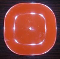 Пластмасова чиния квадрат плитка - голяма