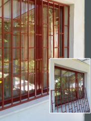 Метални решетки за прозореци и врати
