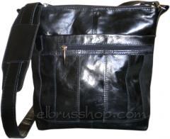 Мъжка кожена чанта стил patcwork m18