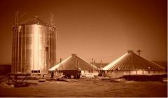 Granary, ventilated metal silo