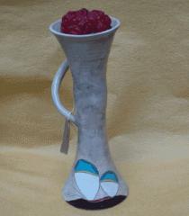 Свещник авторски керамика/ h-19см