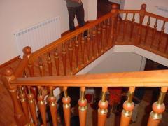 Wooden hand-rails