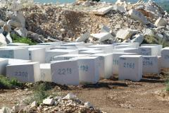 Blocks of limestone