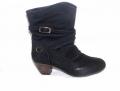 Дамски боти-черно-D2658-1