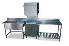 Маси подаваща/приемаща към HOOD Type миялна машина