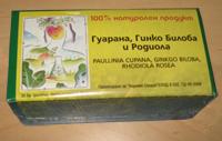 Чай Гуарана, Гинко и Родиола (Златен колен)