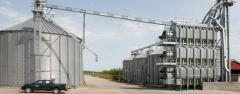 Granary, ventilated metal silo