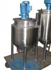 The equipment for manufacture of creams and