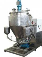 The equipment for manufacture of mayonnaise