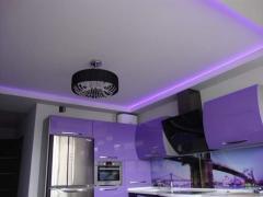 Stretch glossy ceilings