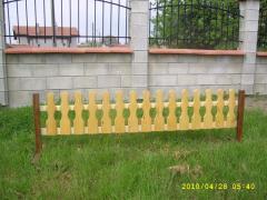 Ограда дървена декоративна