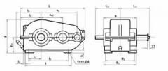 Цилиндричен двустепенен хоризонтален тип РМ