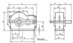 Цилиндричен двустепенен хоризонтален тип РЦД