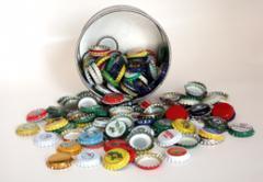 Aluminum caps for carbonated beverages