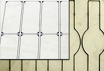 Flexible magnetic stamp-forms for cutting labels