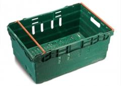 Packaging box slatted