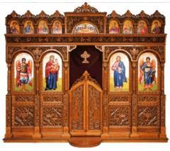 Wooden iconostases