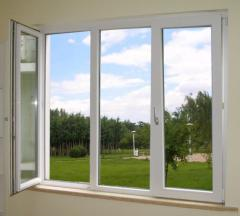 Plastic sliding windows