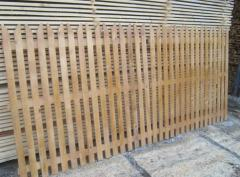 Wooden fences made of logs