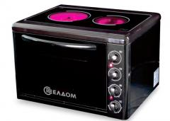 Cooker with pyroceramic glass top 201VFEN