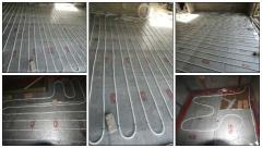 Panel floor heating