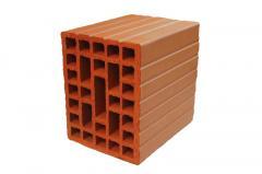 Hollow single bricks