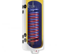 Комбиниран бойлер 120 л, с паралелни серпентини, емайлиран